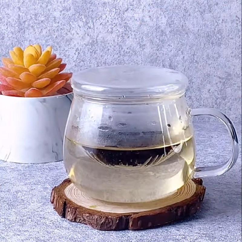Bước 1 Nấu trà Trà sữa việt quất