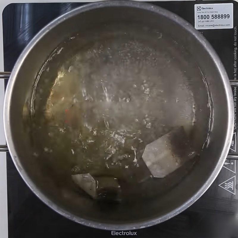 Bước 2 Nấu trà sữa Trà sữa khoai môn