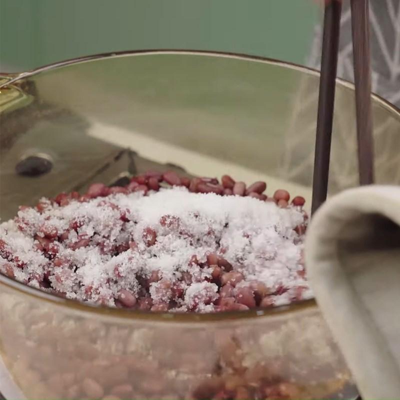 Bước 2 Ninh đậu Chè đậu đỏ sương sáo bột báng