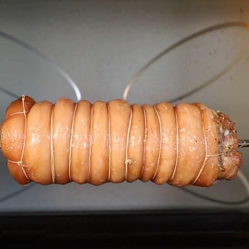 Bước 4 Nướng thịt Ba chỉ cuộn sả