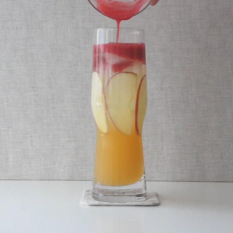 Bước 1 Pha soda trái cây phúc bồn tử Soda trái cây phúc bồn tử (quả mâm xôi)