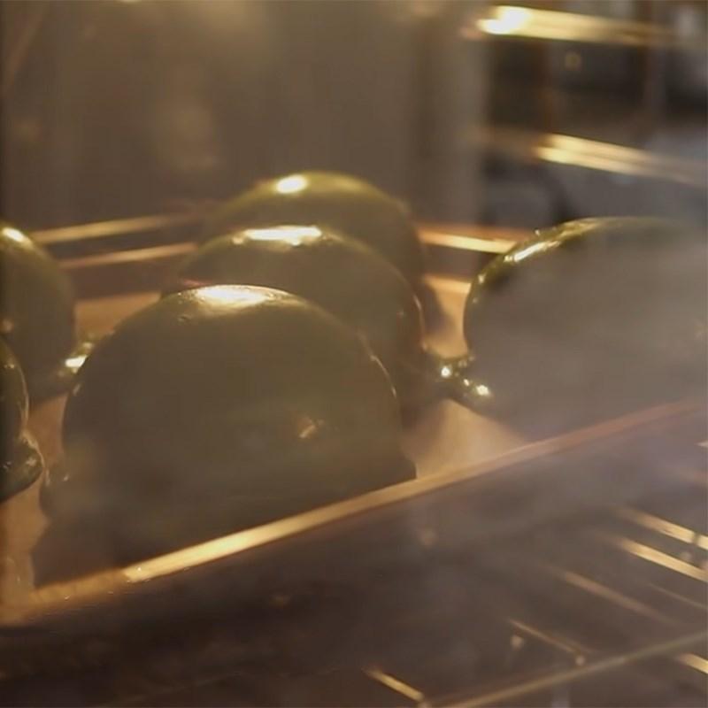 Bước 5 Phủ kem matcha và nướng bánh Bánh papparoti trà xanh