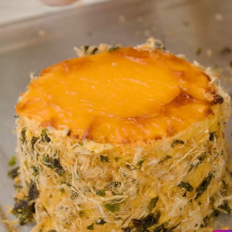 Bước 6 Quết hỗn hợp chà bông rong biển Bánh bông lan kim sa phô mai