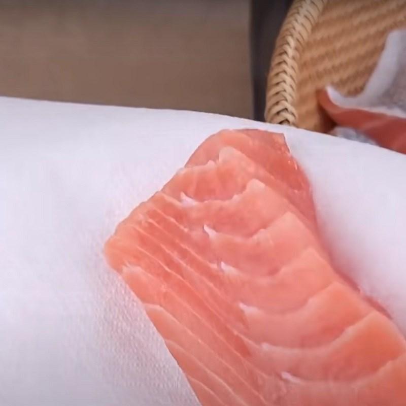 Bước 3 Sấy cá hồi Khô cá hồi làm bằng lò nướng