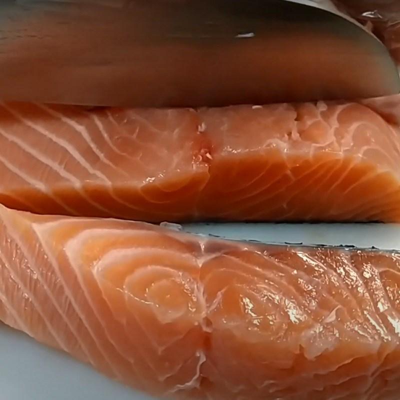 Bước 1 Sơ chế cá hồi Khô cá hồi làm bằng lò sấy