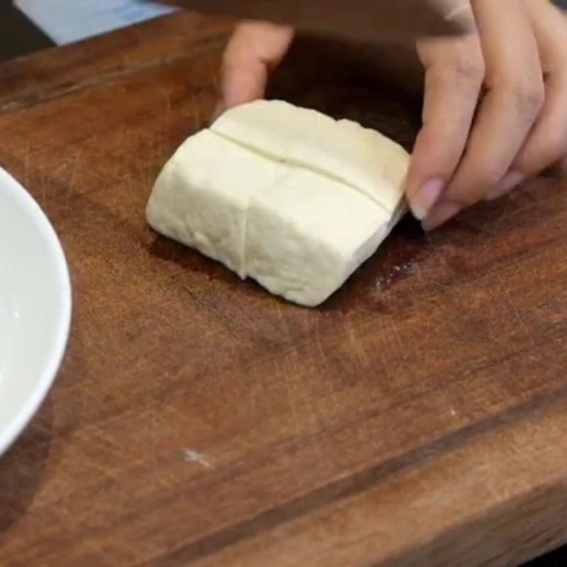 Bước 1 Sơ chế đậu hũ Đậu hũ chiên bột bằng nồi chiên không dầu