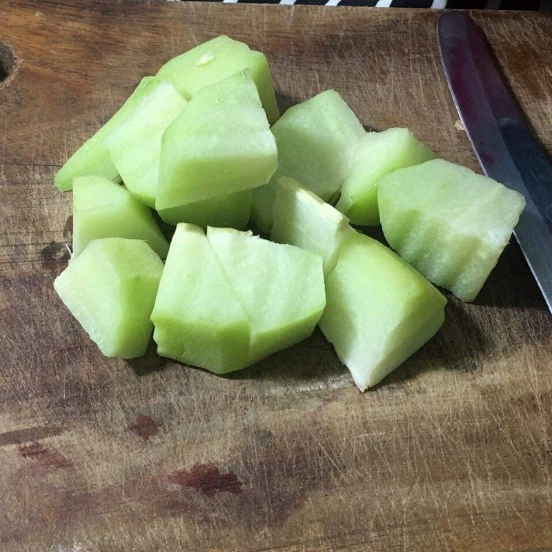 Bước 1 Sơ chế rau củ quả Canh thịt viên rau củ