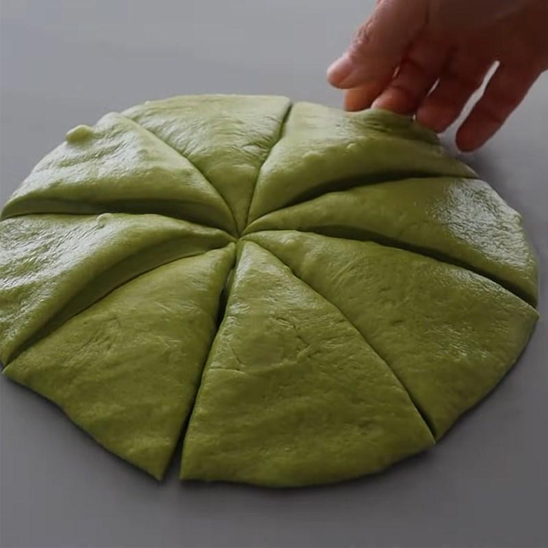 Bước 3 Tạo hình bánh Bánh mì papparoti trà xanh