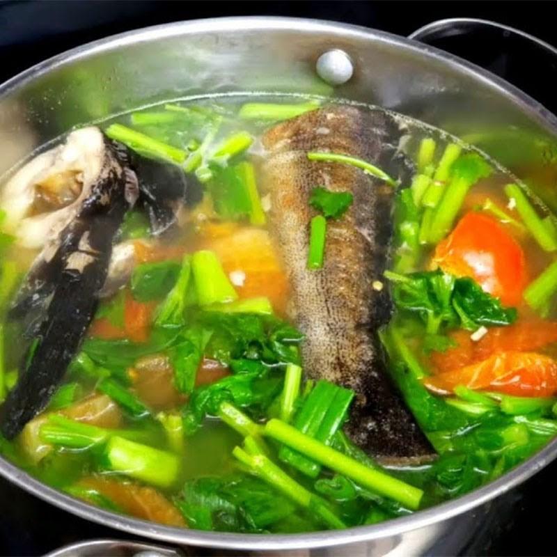 Bước 5 Thành phẩm Cá bớp nấu ngót
