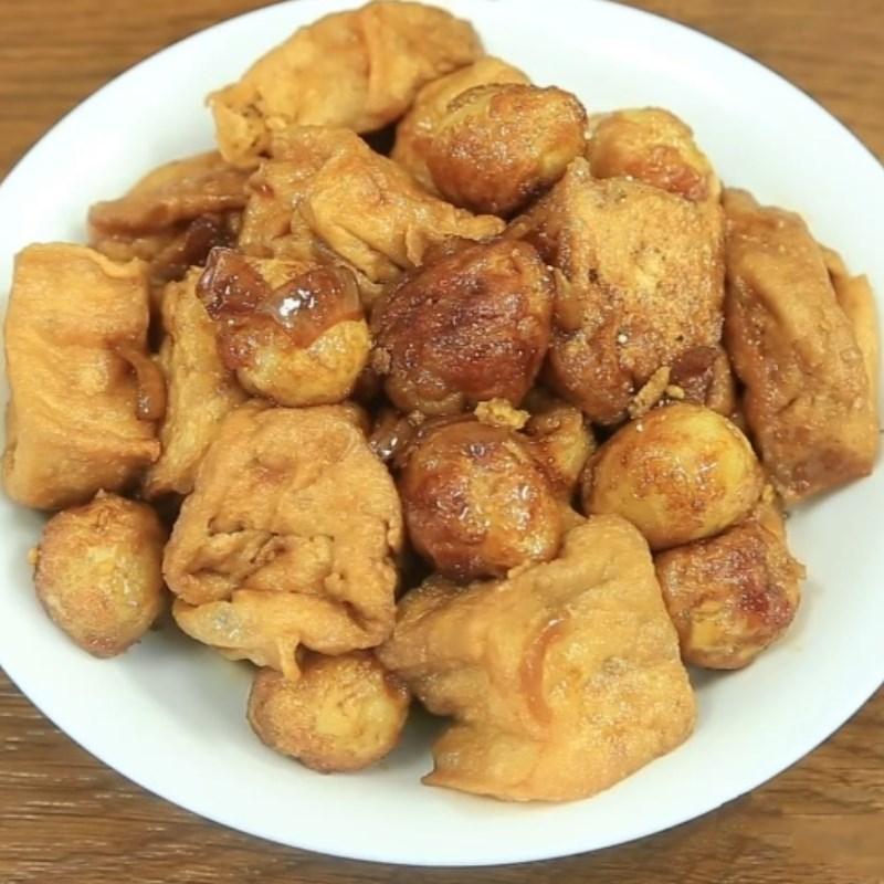 Bước 5 Thành phẩm Trứng cút chiên kho đậu hũ