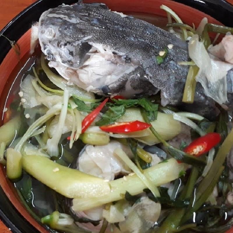 Bước 4 Thành phẩm Canh chua cá úc dọc mùng