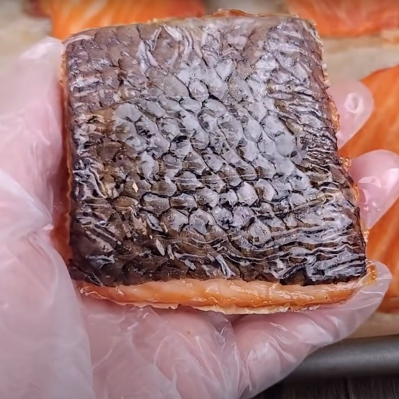 Bước 4 Thành phẩm Khô cá hồi làm bằng lò nướng