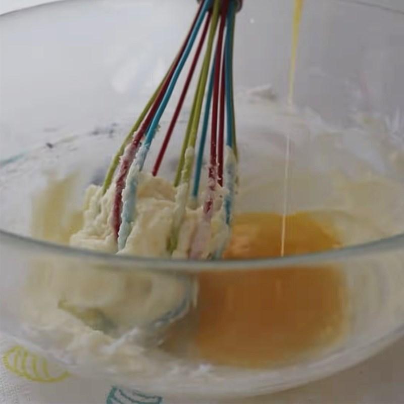 Bước 2 Trộn bột vỏ phủ ngoài Bánh mì papparoti trà xanh