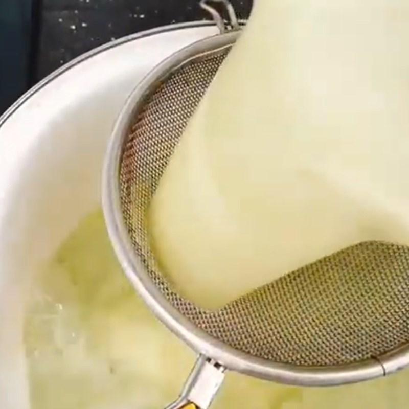 Bước 1 Làm bánh caramen trà xanh Chè caramen matcha