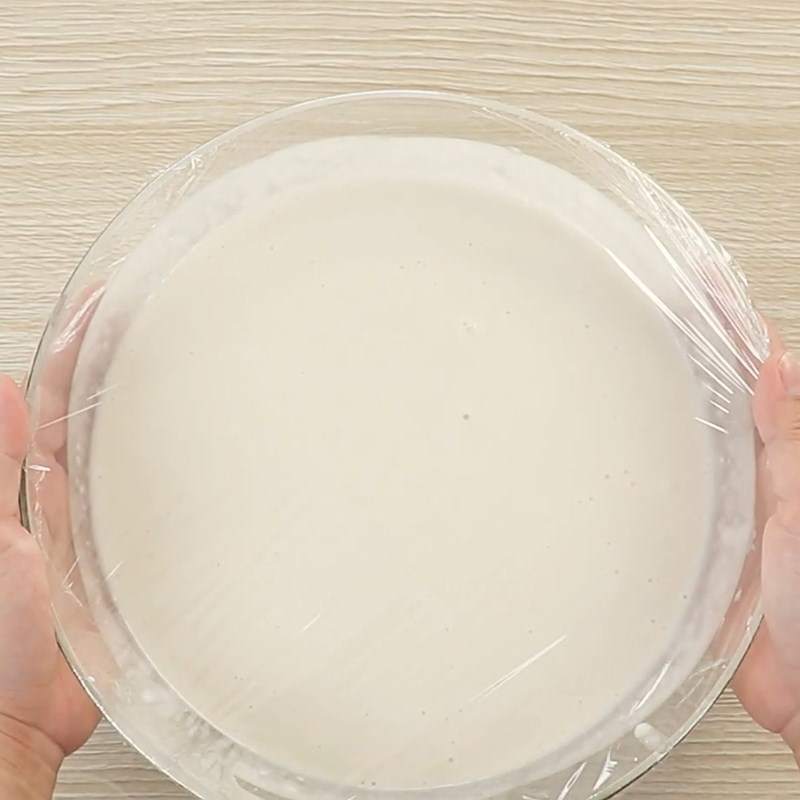 Bước 4 Ủ bột bánh Bánh bò nướng nhân dừa bằng chảo