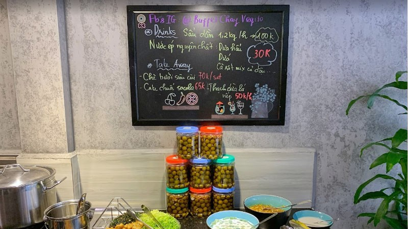 menu Nhà Hàng Buffet Chay Vegito