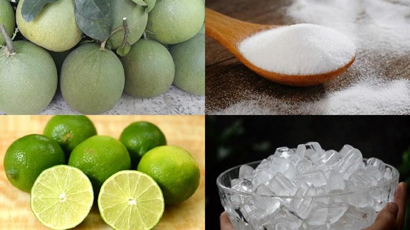 Nguyên liệu món ăn nước ép bưởi