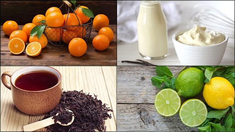 Nguyên liệu món ăn trà sữa thạch cam