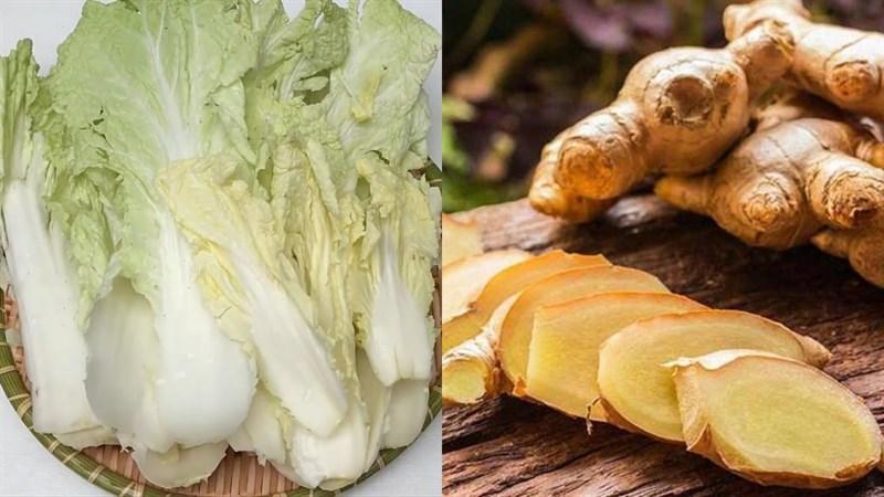 Nguyên liệu món ăn cải thảo luộc