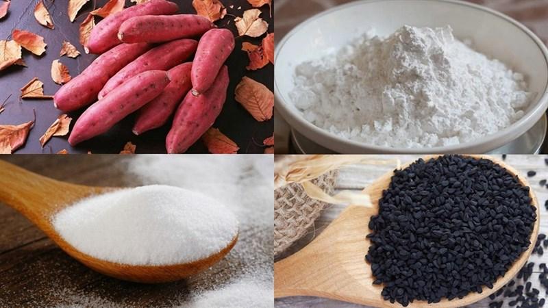 Nguyên liệu món ăn bánh khoai lang chiên phồng