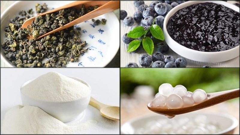 Nguyên liệu món ăn trà sữa việt quất