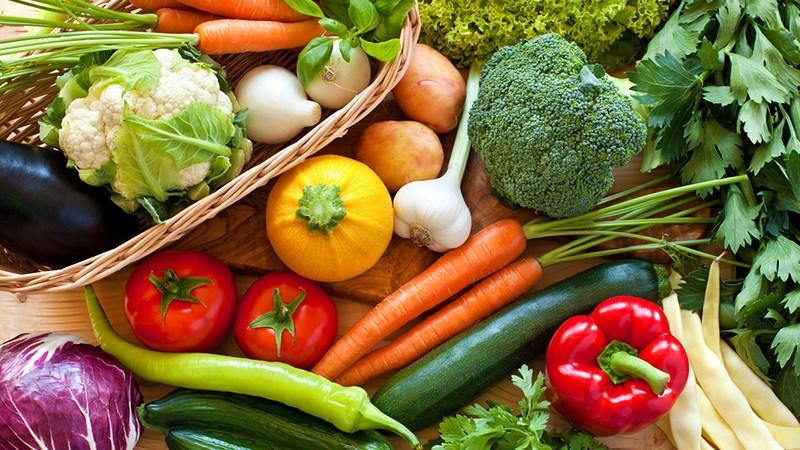 Trái cây và rau củ giàu protein
