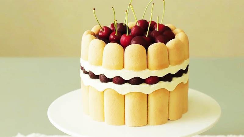 Bánh charlotte cherry