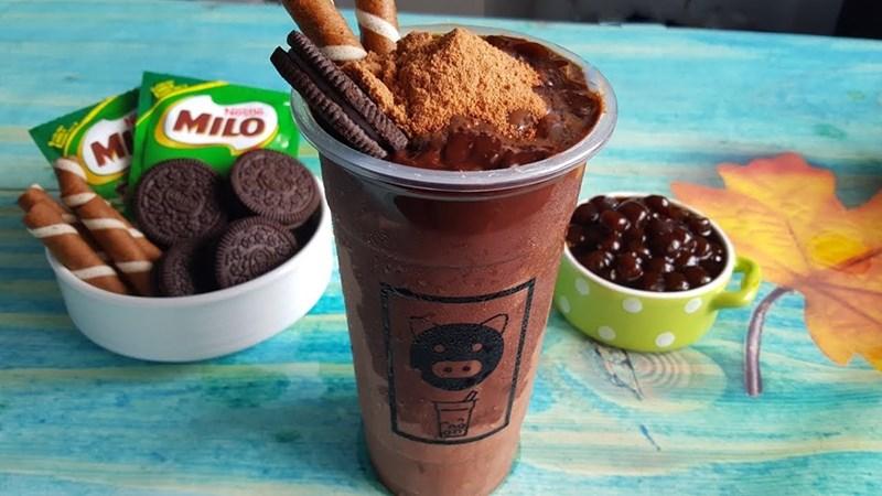 Milo cacao dầm trân châu đường đen