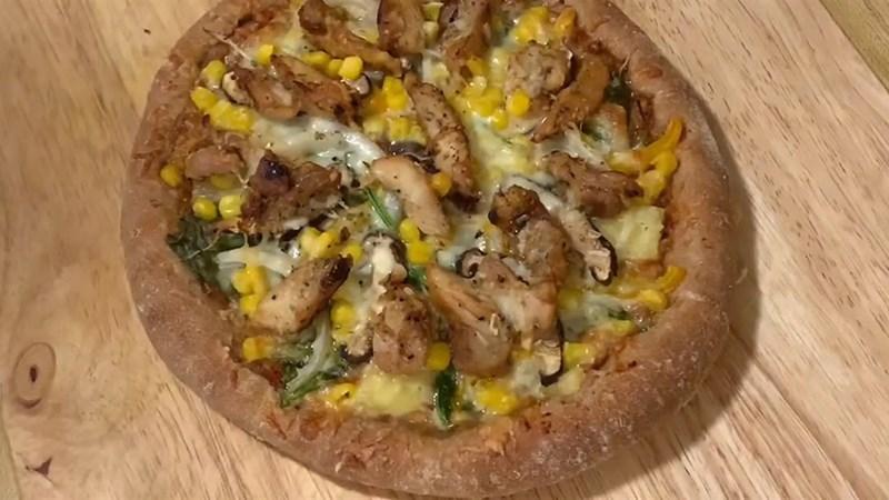 Pizza nguyên cám không cần nhồi