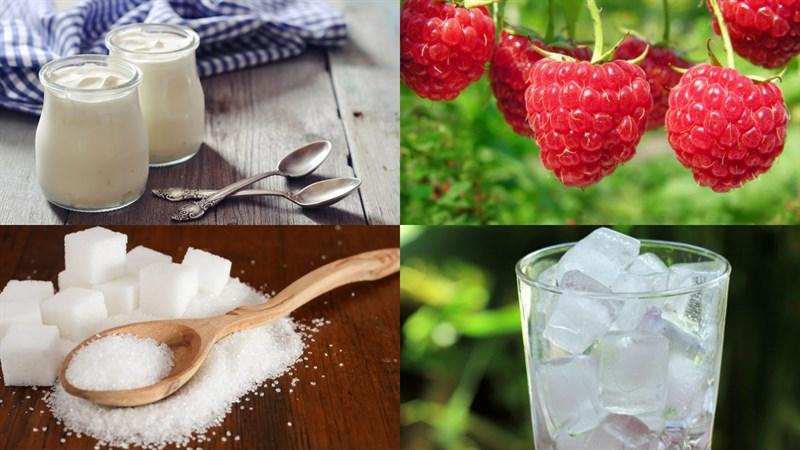 Nguyên liệu món ăn yaourt phúc bồn tử (quả mâm xôi)