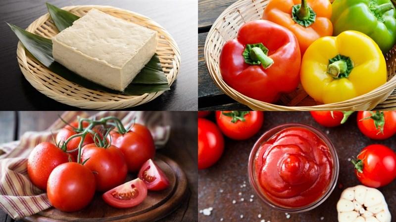 Nguyên liệu món ăn sườn xào chua ngọt chay