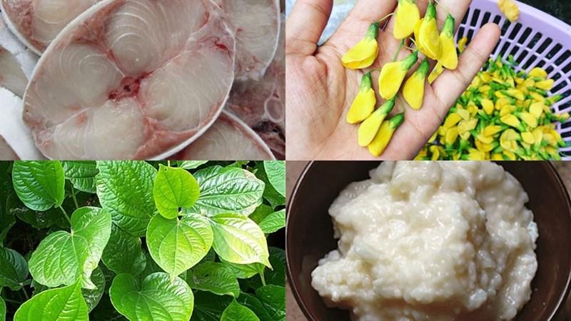 Nguyên liệu món ăn canh chua cá bớp