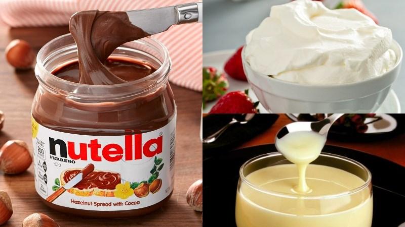 Nguyên liệu món ăn 2 cách làm kem nutella