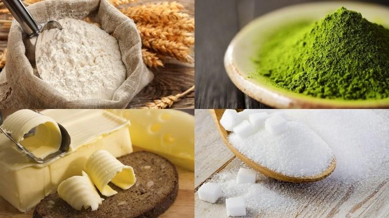 Nguyên liệu món ăn bánh papparoti trà xanh - papparoti matcha