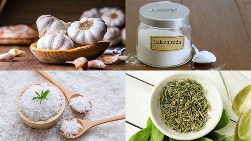 Dùng trà, muối và baking soda để bảo quản tỏi