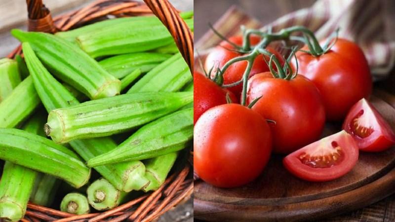 Nguyên liệu món ăn đậu bắp xào cà chua