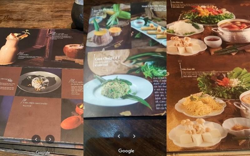 menu Nhà Hàng Ưu Đàm Chay