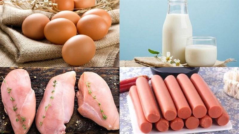 Nguyên liệu món ăn trứng hấp sữa