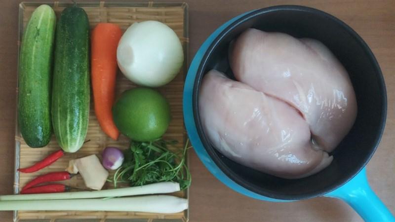 Nguyên liệu món ăn gỏi ức gà