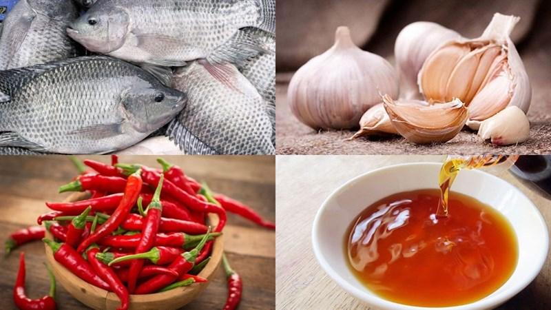 Nguyên liệu món ăn cá rô chiên nước mắm
