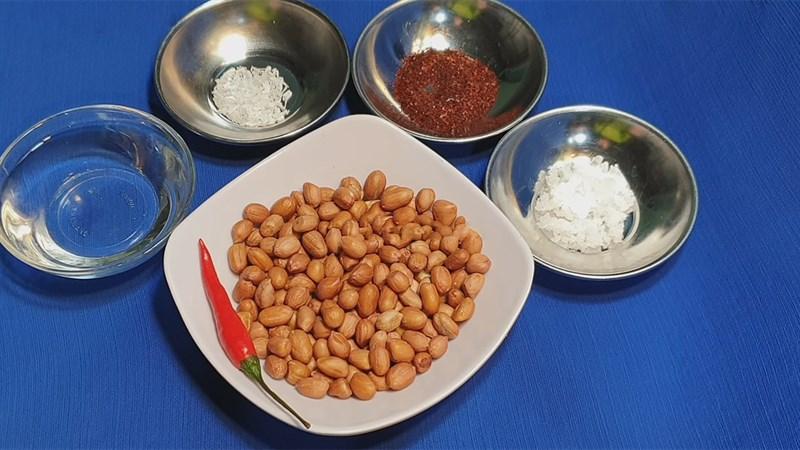 Nguyên liệu món ăn đậu phộng rang muối