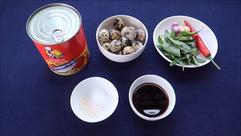 Nguyên liệu món ăn cá mòi kho trứng
