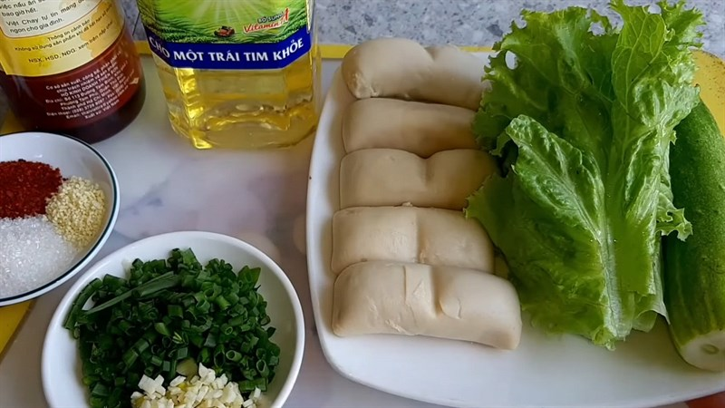 Nguyên liệu món ăn mì căn chiên giòn