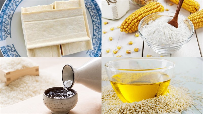 Nguyên liệu món ăn cách chiên đậu bằng nồi chiên không dầu