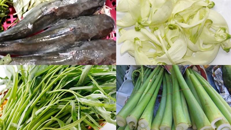 Nguyên liệu món ăn canh chua cá úc