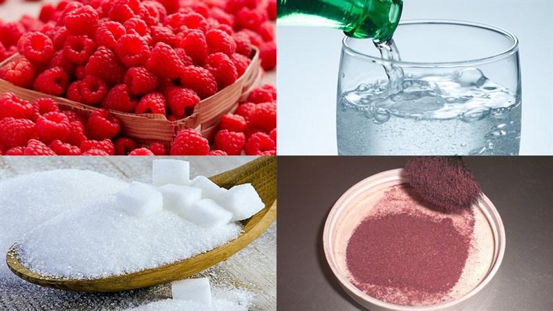 Nguyên liệu món ăn soda phúc bồn tử