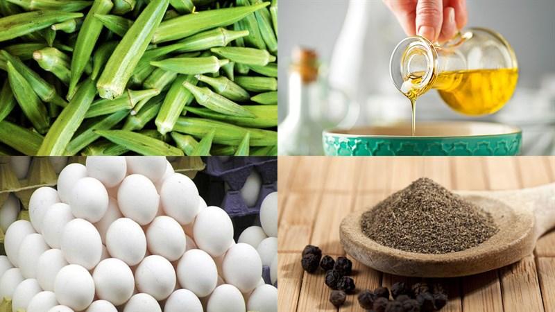Nguyên liệu món ăn đậu bắp xào trứng