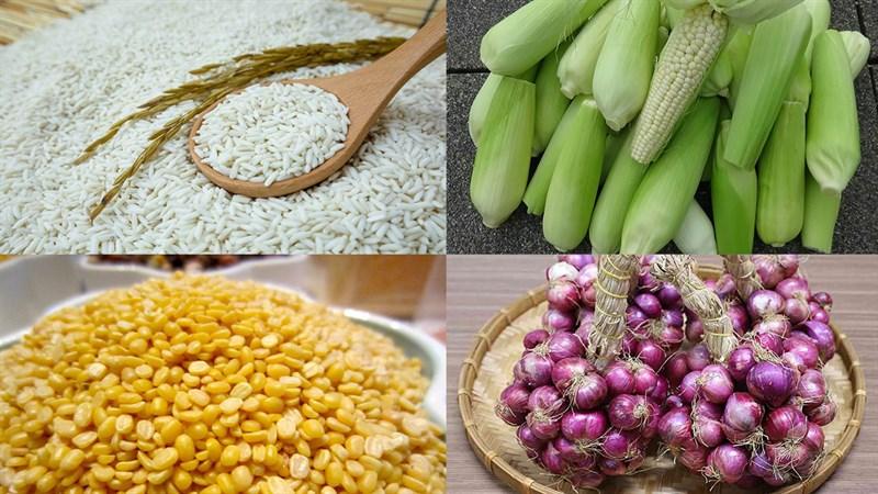 Nguyên liệu món ăn xôi bắp (ngô) đậu xanh