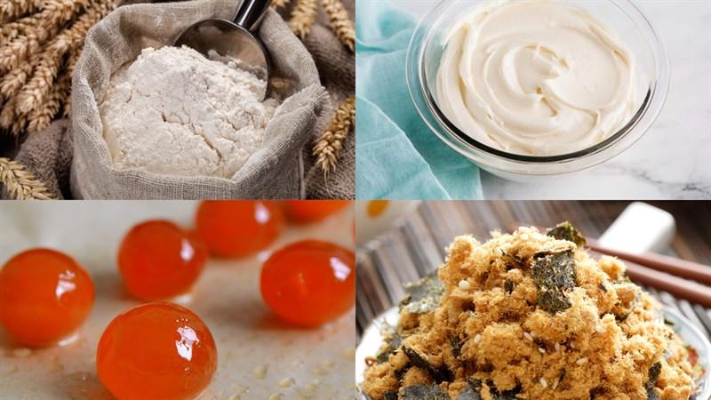 Nguyên liệu món ăn bánh bông lan kim sa phô mai