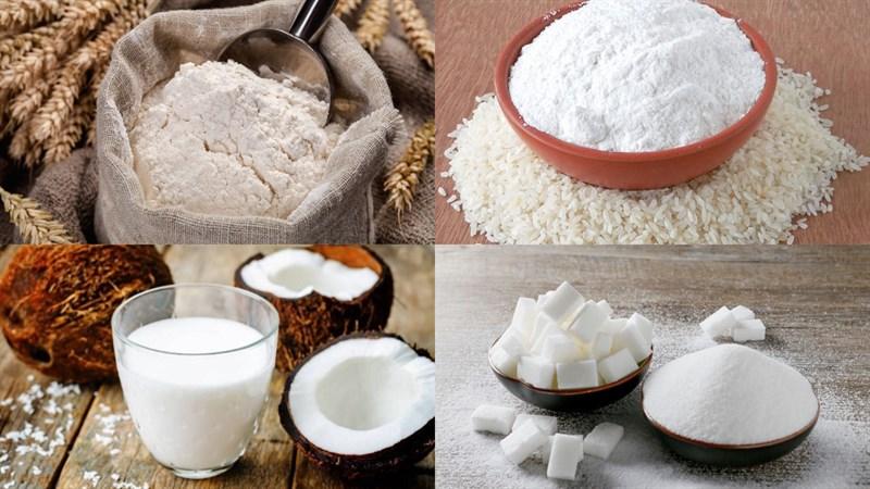 Nguyên liệu món ăn bánh nếp cốt dừa chiên